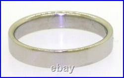 Tiffany & Co. Vintage heavy Platinum 4mm wide wedding band ring size 9.5 withbox
