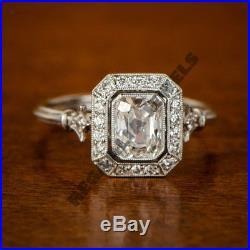 Unique Design 14K White Gold Over 2 CT Round Diamond Vintage Wedding Womens Ring