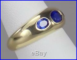 Unique Vintage Cartier 18K Gold GIA 1.2ct Ceylon Sapphire Band Ring Sz 6.5 Box