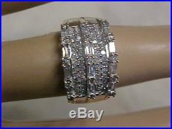 VINTAGE1.18ctw NATURAL DIAMOND WEDDING BAND-RING 14K YELLOW GOLD sz7.5 BUY NOW