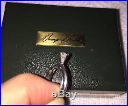 VTG Orange Blossom 18K White Gold 0.50ct Diamond Solitaire Wedding Rings Set 5