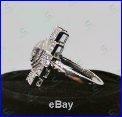 Victorian Edwardian Vintage Engagement Wedding Ring 2.1 Ct Diamond 14K Gold Over