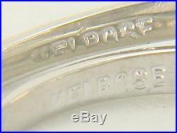 Vintage 10K 1940's White Gold Diamond Wedding Ring Set Size 6.5
