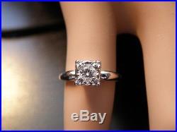 Vintage 14K Diamond Illusion Setting Engagement Wedding Ring