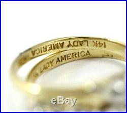 Vintage 14K TWO-TONE GOLD, DIAMOND 2-Piece Wedding Ring Set SIZE 6, 5.1 Grams