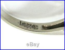Vintage 14K WHITE GOLD, DIAMOND 2-Piece Wedding Ring Set SIZE 5.5, 6.25 (Band)