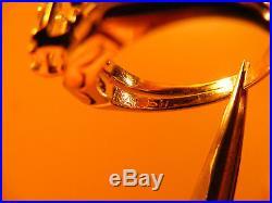Vintage 14K White Gold. 55ct Diamond Solitaire Wedding Ring Set