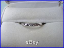 Vintage 14K White Gold Sapphire and Diamond Wedding Ring Set