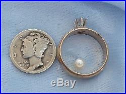 Vintage 14K Yellow Wedding Ring, 4.5mm Diamond, TCW. 36 carat, size 6.25
