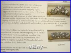 Vintage 14K Yellow White Gold 1940's 1.94ctw Diamond Bridal Set GIA Appraisal