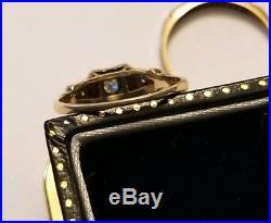 Vintage 14 K Diamond Wedding Ring Set Yellow Gold