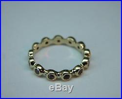 Vintage 14k Gold Natural Ruby Eternity Band Wedding Stacking Ring