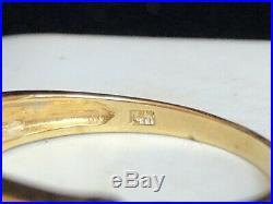 Vintage 14k Gold Tanzanite Band Ring Gemstone Wedding Designer Signed CDI