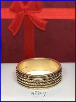 Vintage 14k Gold Wedding Band Designer Signed Artcarved Milgrain Detail