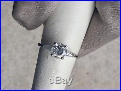 Vintage 14k White Gold Diamond Ring 1.00 TCW Engagement/Anniversary/Wedding