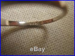 Vintage 14k White Gold Wedding Set Band & Diamond Ring