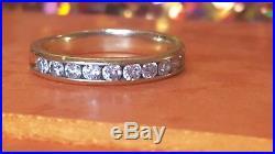Vintage 14k Yellow Gold Genuine Natural Diamond Wedding Band Ring Signed Tw