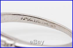 Vintage $15,000 2ct Princess Cut Diamond Platinum Wedding Ring BELOW WHOLESALE