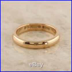 Vintage (1934) 9ct Rose Gold Wedding Band (3.0mm) Ring Size K (3.0g)