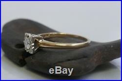 Vintage 1950's Diamond Wedding Ring 14K yellow Gold Size 8 TCW 0.27