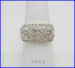 Vintage 1CT Diamond Pave Anniversary Wedding Band Bridal Ring 14K Yellow Gold