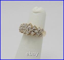 Vintage 1CT Round Diamond Anniversary Wedding Band Bridal Ring 10K Yellow Gold