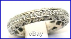 Vintage 1.00 Carat Diamond Eternity Wedding Band Ring 14K White Gold