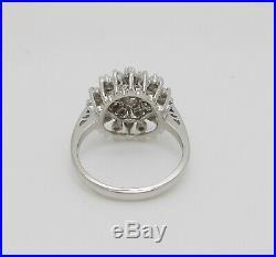 Vintage 1/2CT Diamond Solitaire Engagement Wedding Bridal Ring 14K White Gold