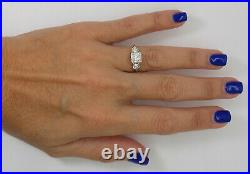 Vintage 1/2CT Diamond Solitaire Engagement Wedding Bridal Ring 14K Yellow Gold