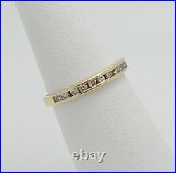 Vintage 1/4CT Diamond Channel Set Anniversary Wedding Band Ring 14K Yellow Gold