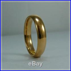Vintage 22ct Gold Court Wedding Ring
