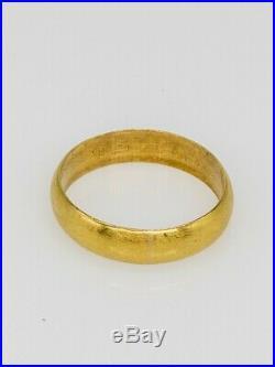 Vintage $2400 24k PURE GOLD 6mm Mens Wedding Band Ring SZ 10.75 7g