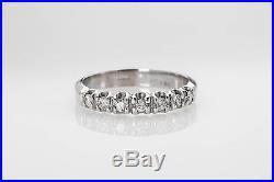 Vintage. 25ct VS G Diamond 14k White Gold Wedding Band Ring