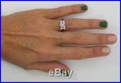 Vintage 3/4CT Diamond Engagement Wedding Bridal Set Ring Band 14K Yellow Gold