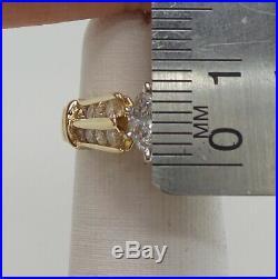 Vintage 3/4CT Marquise Diamond Engagement Wedding Bridal Ring 14K Yellow Gold