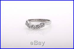 Vintage $4000 5 Stone 1.25ct VS G Diamond Platinum Wedding Ring Band WRAP GUARD