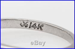 Vintage $5000 1ct OVAL CUT Natural Diamond 14k White Gold Wedding Ring