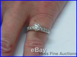Vintage. 70 tcw Center VS2 I Color Diamond Platinum Wedding Engagement Ring