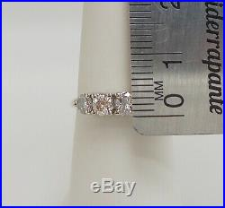 Vintage 7/8CT Diamond Shared Prong Anniversary Wedding Band Ring 14K Yellow Gold