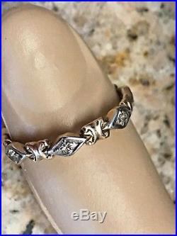 Vintage ART DECO 14k Yellow White Gold. 30 Ct Diamond Full Eternity Ring 7