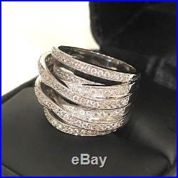 Vintage Antique Diamond Paved Wrap Band Ring Women Wedding Engagement Jewelry