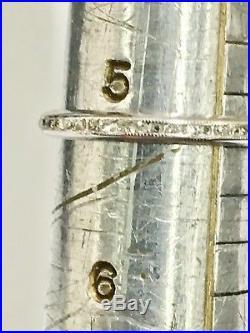 Vintage Art Deco Platinum Diamond Eternity Wedding Band Ring