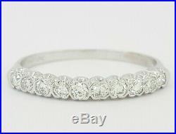Vintage C. D. Peacock 0.3 ct Platinum 10 Stone Round Diamond Wedding Band / Ring