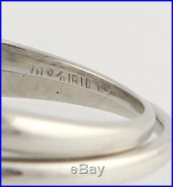Vintage Diamond Engagement Ring & Wedding Band Set 900 Platinum Natural 1.32ctw