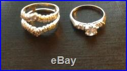 Vintage Diamond Engagement Wedding Set Ring Band 14k White Gold 3/4cttw G-h, Vs