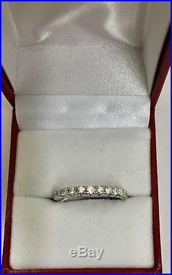 Vintage Diamond Wedding Band Eternity Band