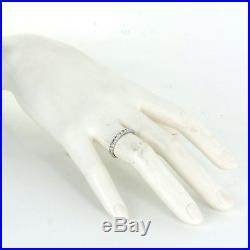 Vintage Diamond Wedding Band Ring 18k White Gold Estate Fine Jewelry Sz 7