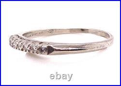 Vintage Diamond Wedding Ring Anniversary Band. 20ct Platinum Antique Art Deco