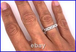 Vintage Diamond Wedding Ring Band. 50ct Platinum Antique Art Deco F-G/VVS-VS
