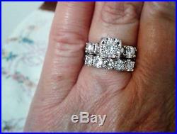 Vintage Diamond Wedding Ring Set 1 1/2 Carat Appraised at $3800
